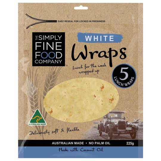 Simply Fine Foods White Wraps