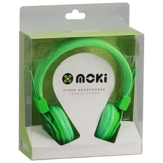 Moki Hyper Headphones Green
