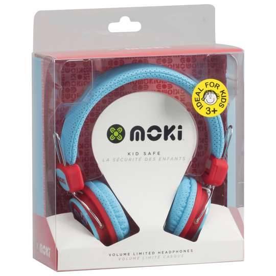 Moki Kids Safe Headphones Blue/red