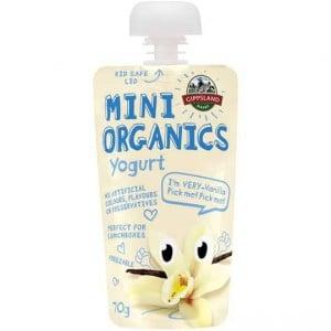 Gippsland Dairy Mini Organic Vanilla Yoghurt