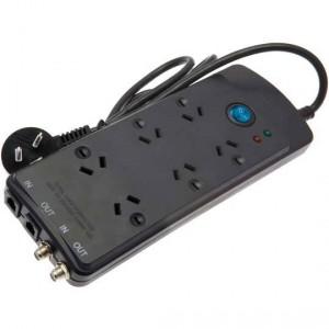 Jackson 6 Outlet Theatre Powerboard Foxtel Protect Black