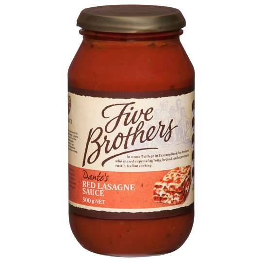 Five Brothers Red Lasagne Sauce