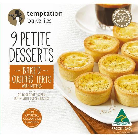 Temptation Bakery Petite Baked Custard Tarts 9pk