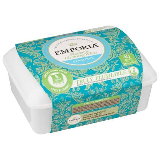 Emporia Flushable Clean Wipes Tub