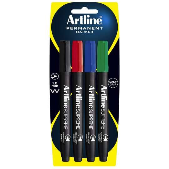 Artline Supreme Permanent Marker Assorted