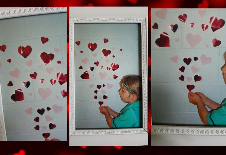 Framed heart keepsake photography