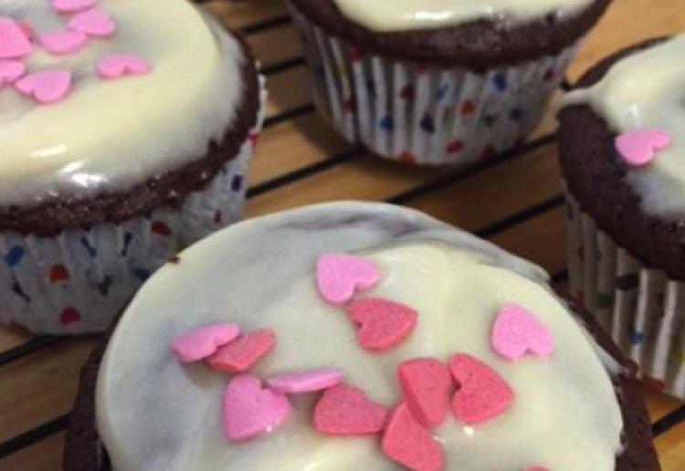 Kids favourite chocolate cupcakes with chia seeds