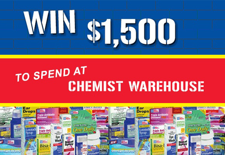 WIN $1500 to spend at Chemist Warehouse