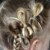 DIY Bow braid