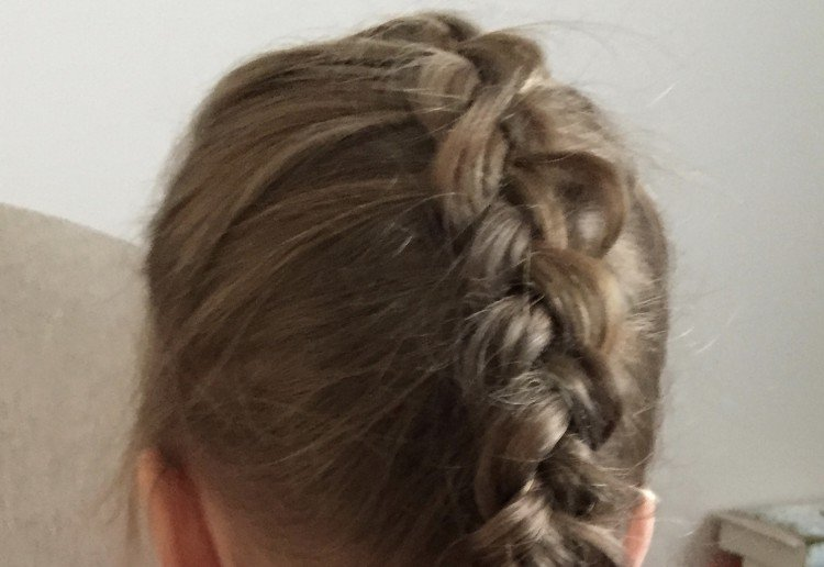 "French ""inside out"" braid"