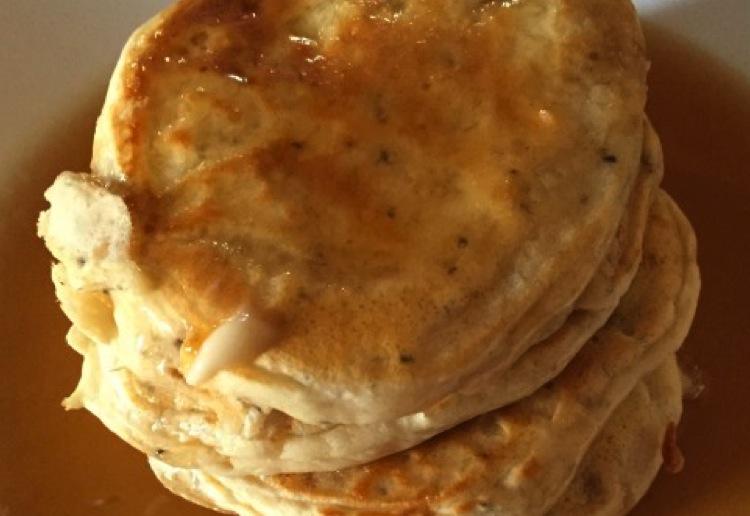Banana pancakes with chia seeds