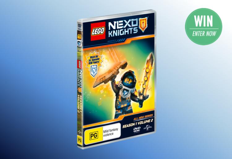 WIN 1 of 25 Lego Nexo Knights S1 V2 DVDs!