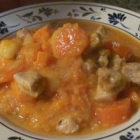 Pork and orange stew