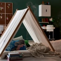 How to make an easy wooden frame tent for the kids