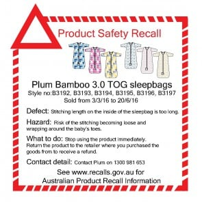 PRODUCT SAFTEY RECALL
