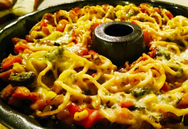 Spaghetti pie