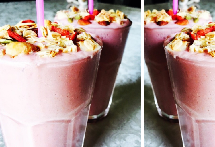 Clean Strawberries and Cream Thick Shake