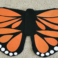 How to make felt butterfly wings