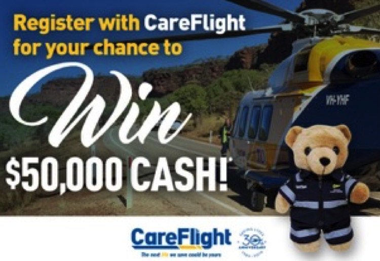 WIN $50,000 cash thanks to Careflight!