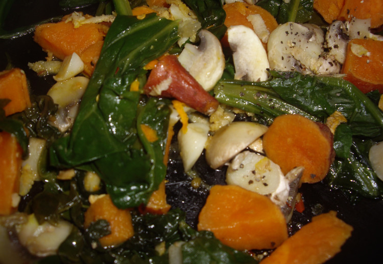 Spinach and Sweet Potatoe