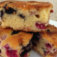 Berry and White Chocolate Blondie