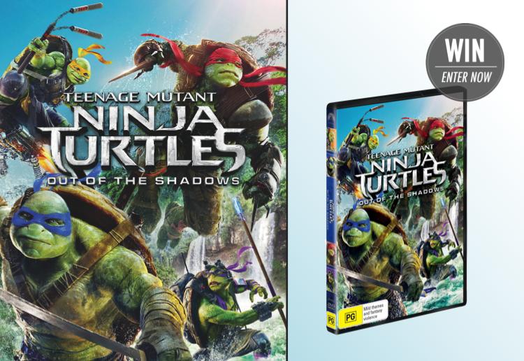 WIN 1 of 15 Teenage Mutant Ninja Turtles 2 DVDs!