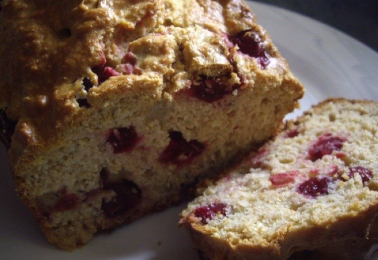 Orange, Rosemary, and Cranberry Bread