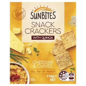 rnash02 reviewed Sunbites Cheddar & Chives Snack Crackers With Quinoa
