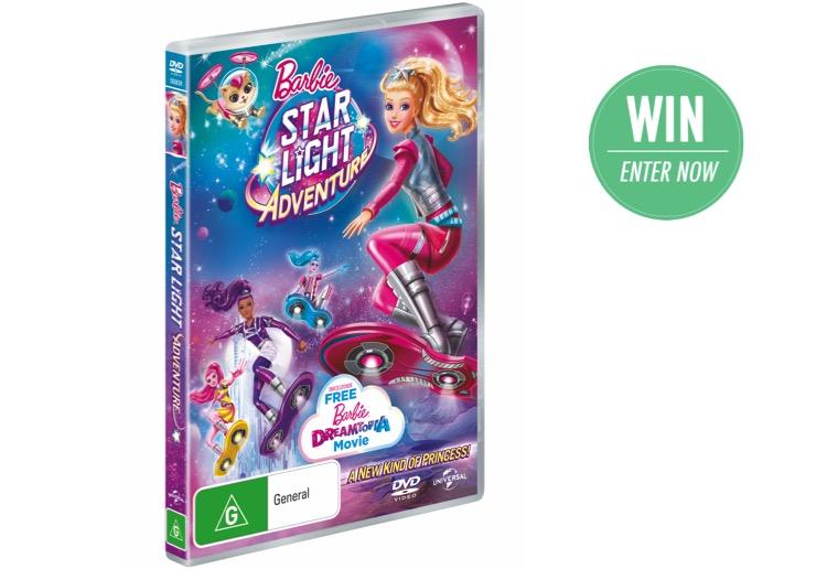WIN 1 of 20 Barbie: Starlight Adventure DVDs