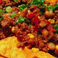 Beef, Beans & Peas Nachos