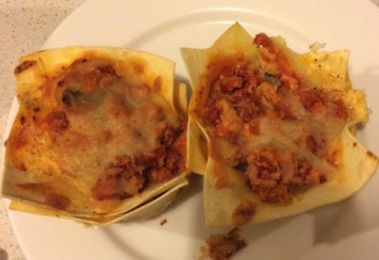 Lasagna Muffin Bites