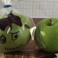 Halloween Frankenstein apples