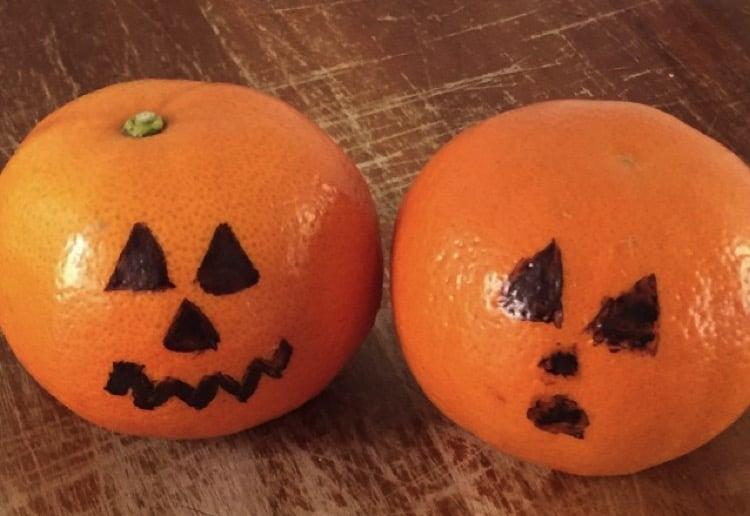 Halloween mandarins