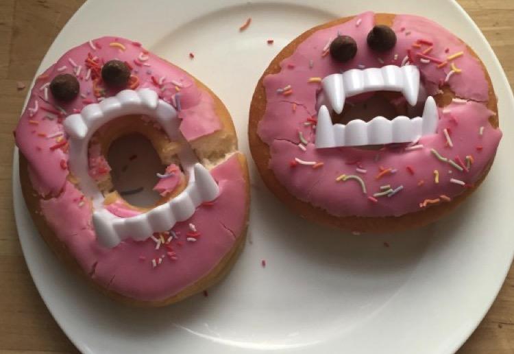 Halloween Vampire Donut