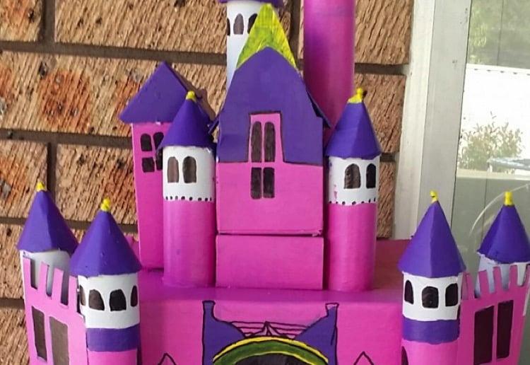 Mini cardboard castle