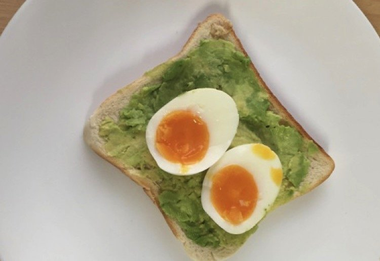 Smashed avo and egg