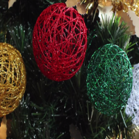 How to make gorgeous string Christmas baubles