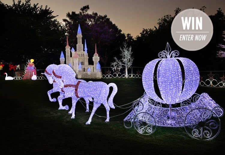 WIN 1 of 6 family passes to the Christmas Lights Spectacular