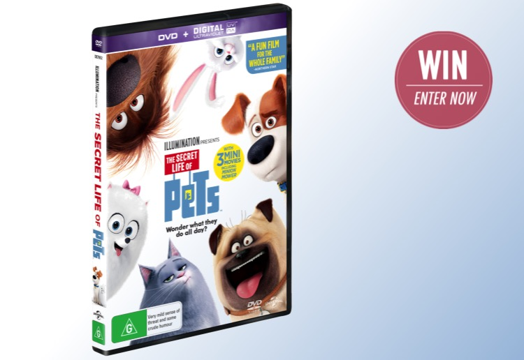 WIN 1 of 20 DVD copies of The Secret Life of Pets