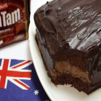 Make A Tim Tam Cake For Australia Day