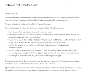 school hat safety