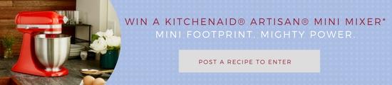 Post a Recipe to Enter_win a kitchenaid mini mixer_500x120