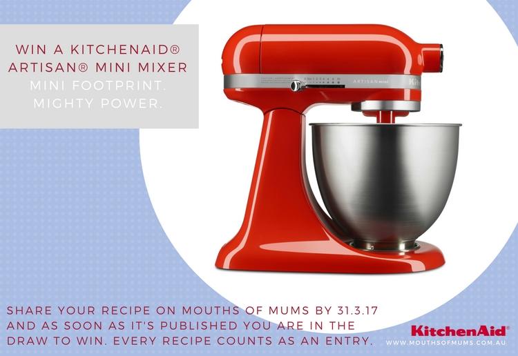 WIN a KitchenAid® Artisan® Mini Mixer