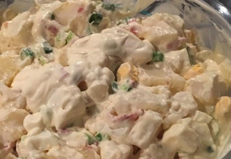 Potato, Egg & Bacon salad