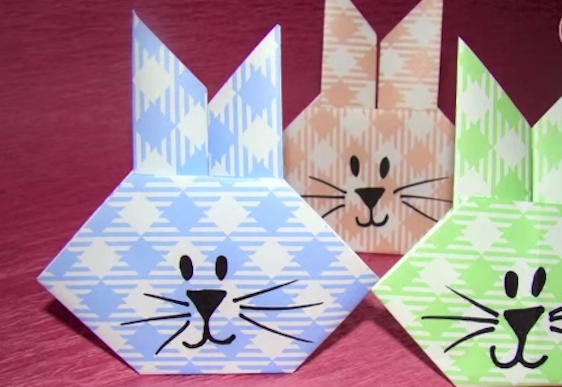 Easy Easter bunny origami