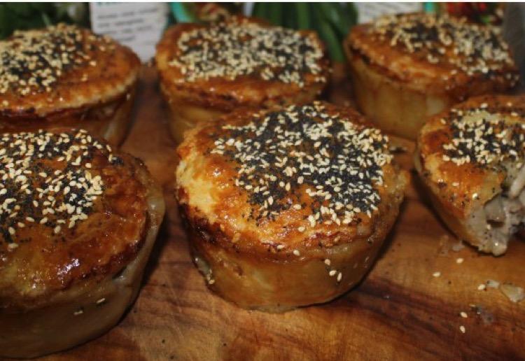 chicken mushroom coconut thai pies