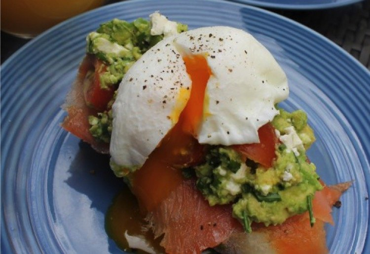 Poached eggs with Avocado & smoked salmon