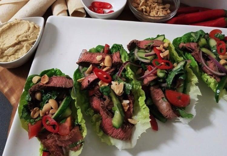 Thai Beef Lettuce Cups