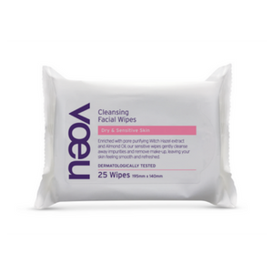 Voeu Cleansing Facial Wipes Dry and Sensitive Skin 25 Pack