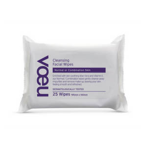 Voeu Cleansing Facial Wipes Normal or Combination Skin 25 pack